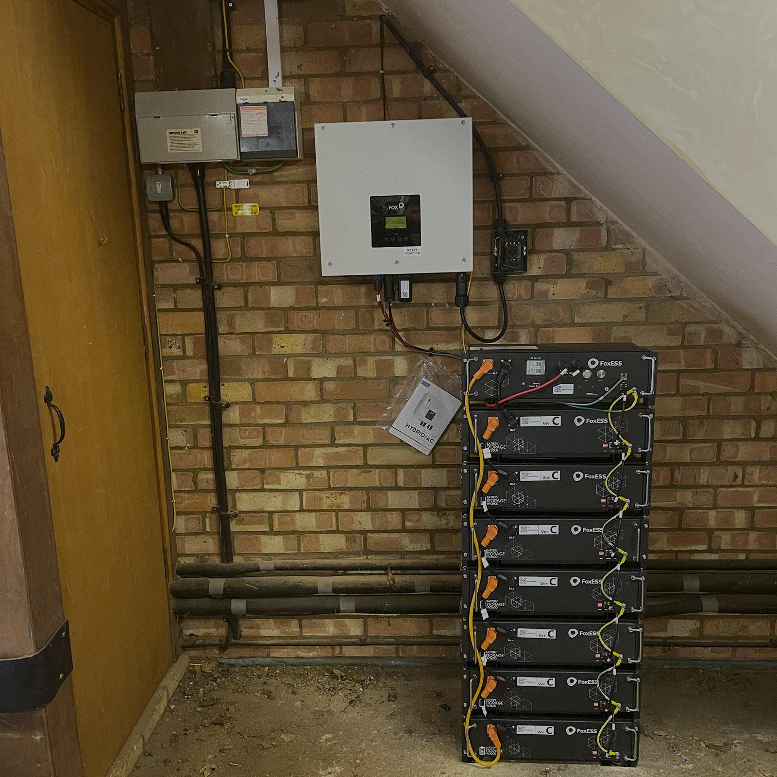 Large Solar Battery Storage