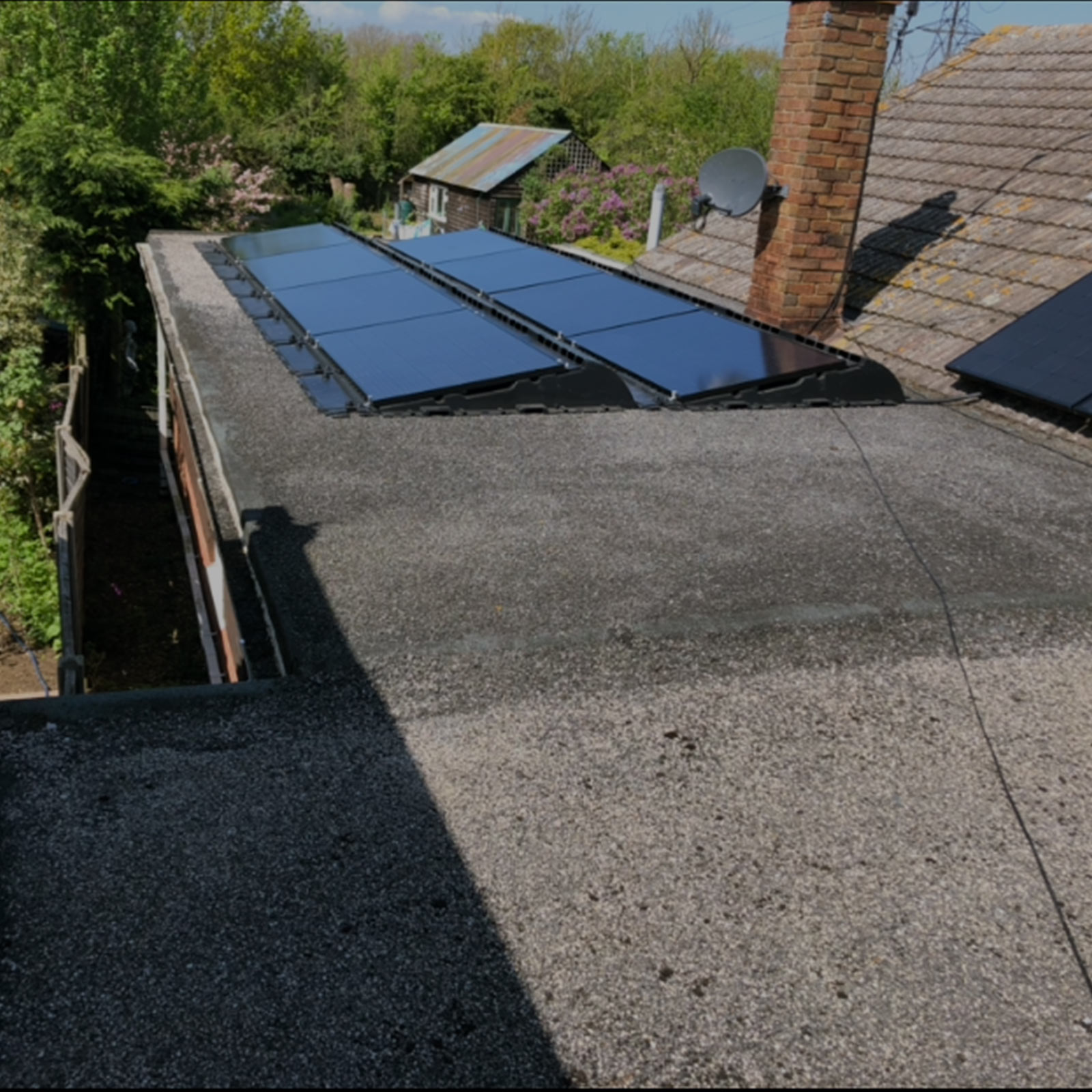 Solar Panel Flat Roof Installation
