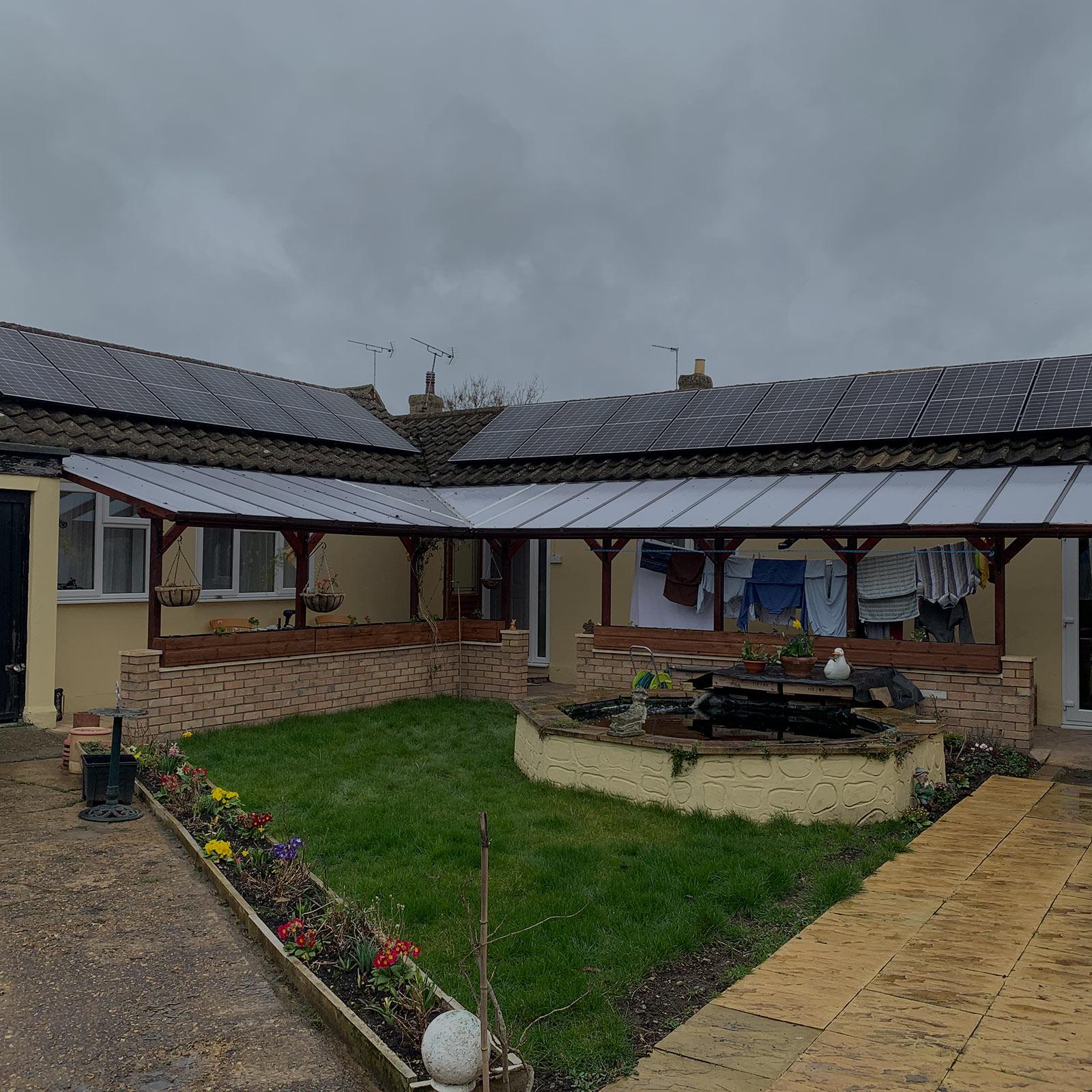Solar Panels Bungalow