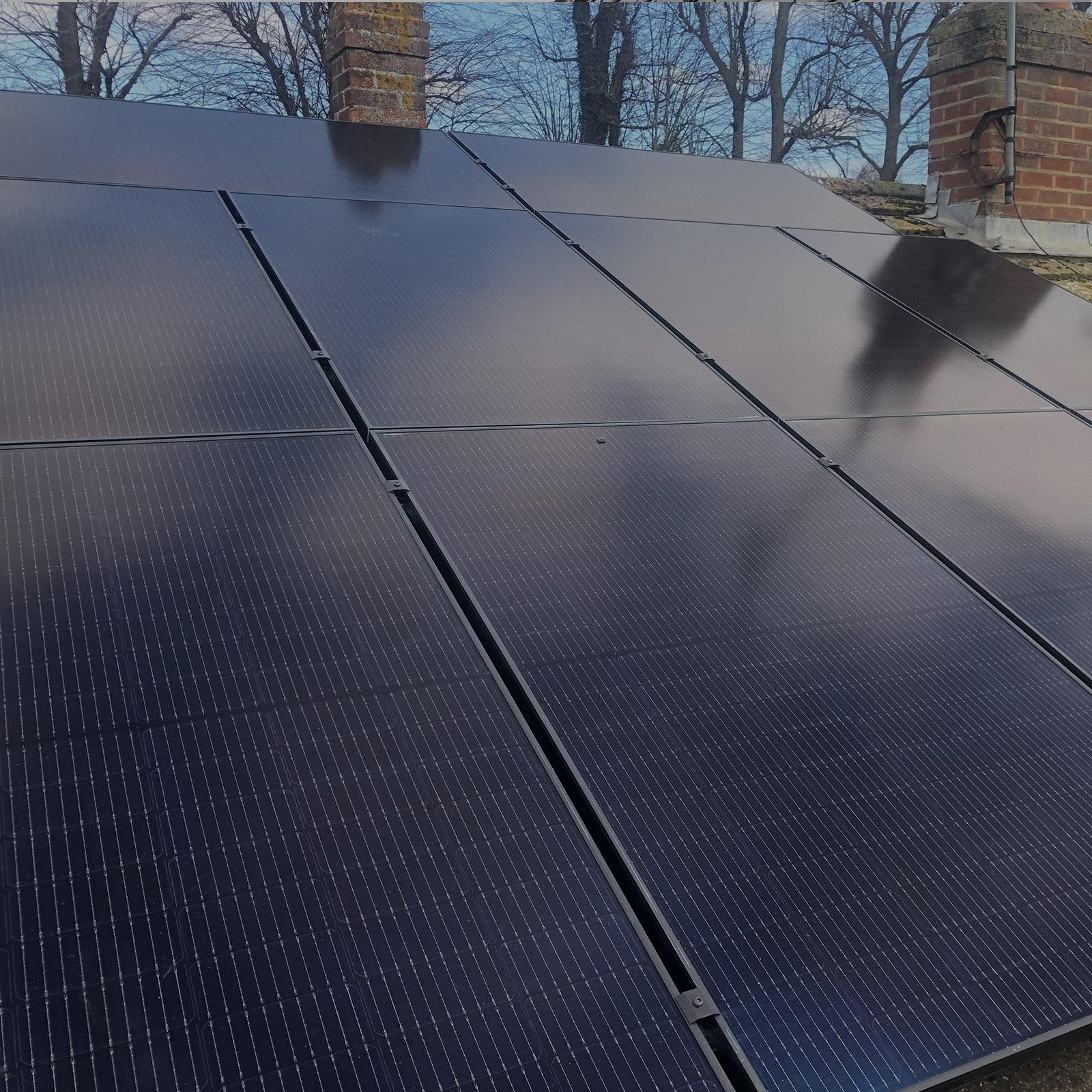 QCell Black Solar Panels
