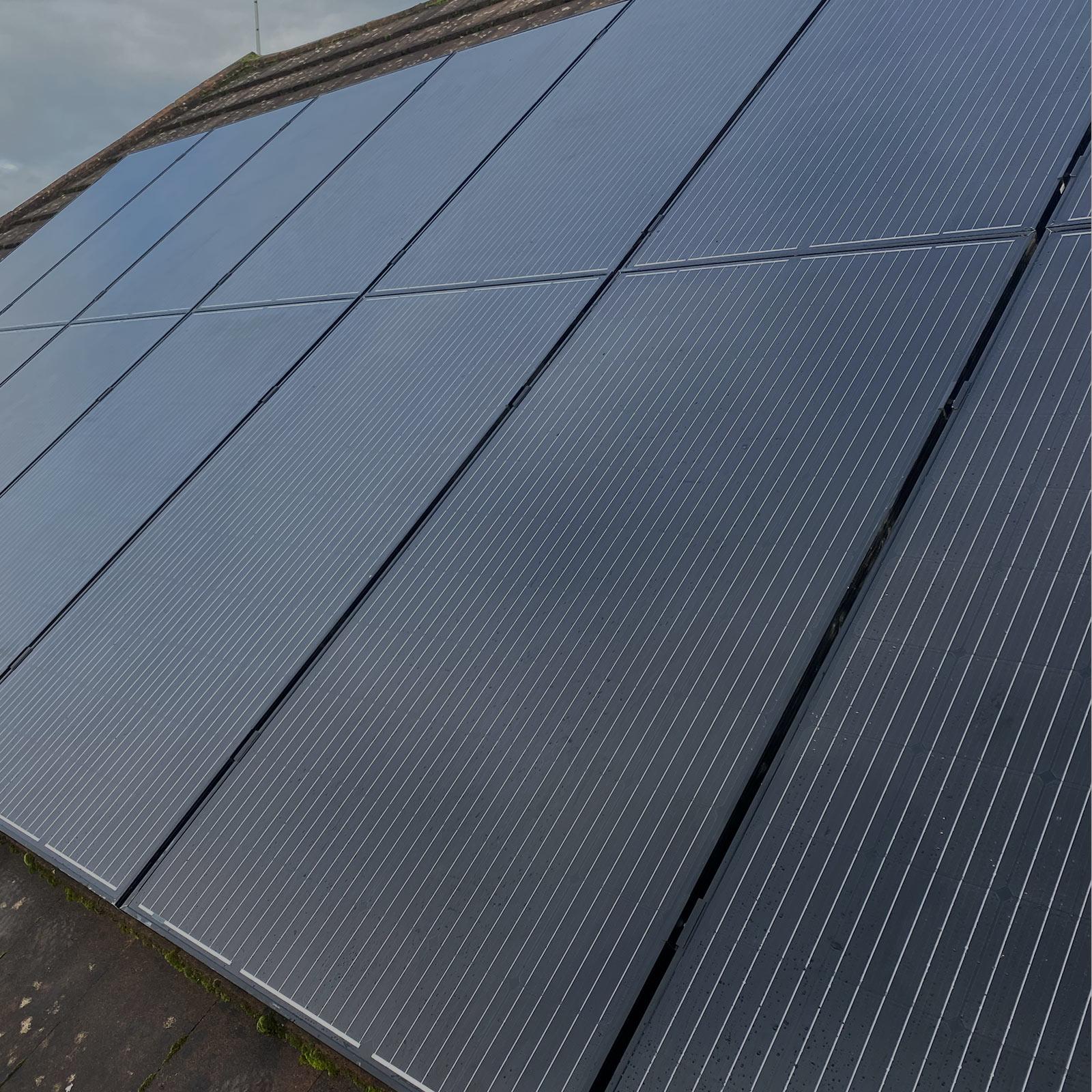 Black Solar Panel Installation